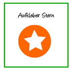 Aufkleber Stern orange